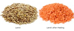 Industrial automatic lentil peeling machine